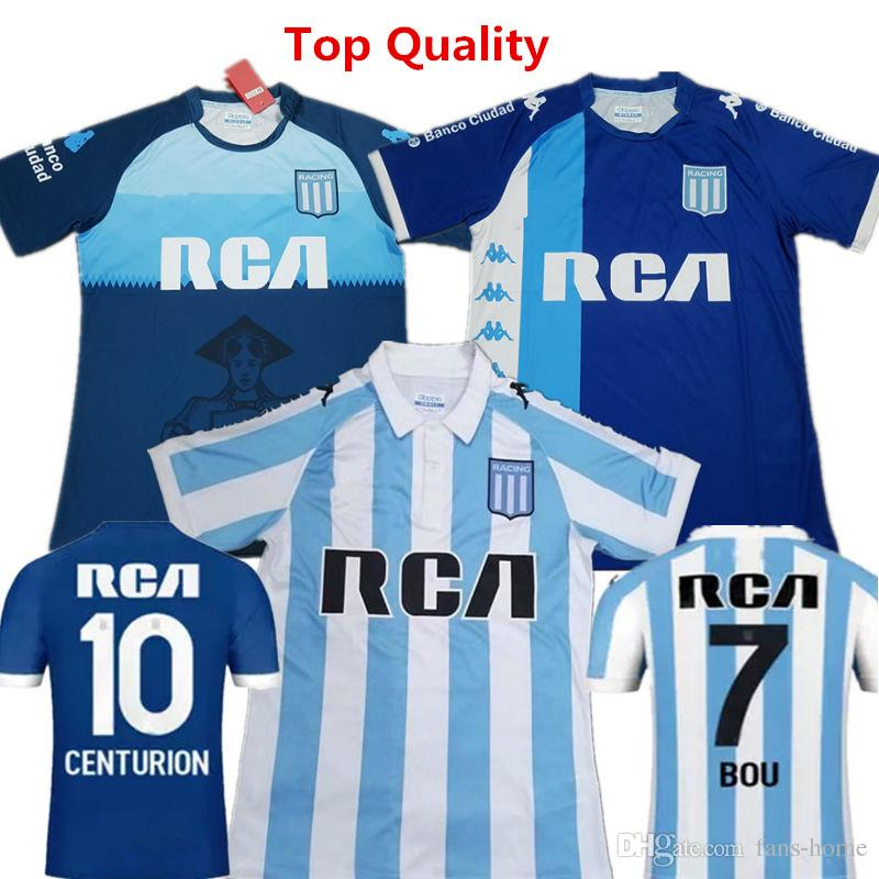 d931806314967 2019 Soccer Jersey Racing Club De Avellaneda Football Shirts 18 19  Argentina Home And Away Blue Shirts Bou FERNANDEZ Lorenzo Atletico Uniforms  From Fans ...