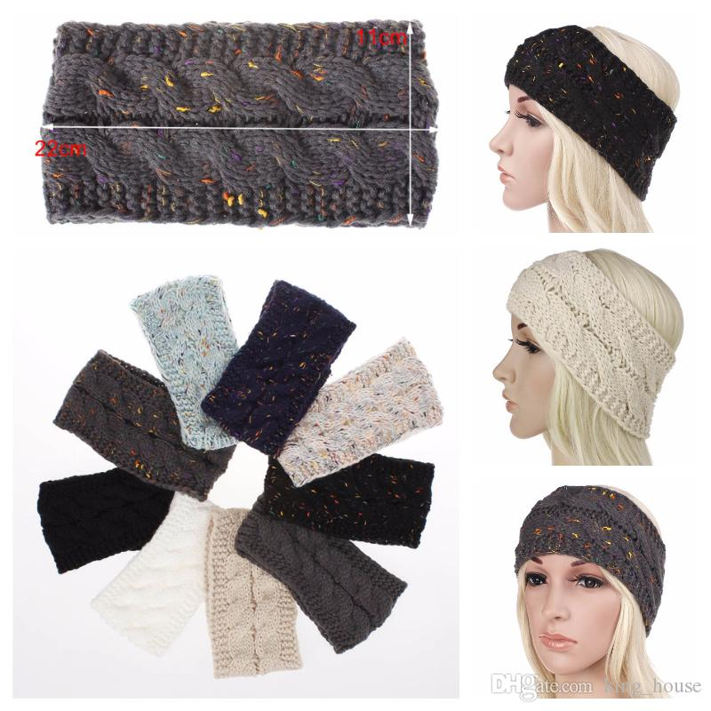 2019 Head Warmer Knitted Crochet Headband Women Winter Sports Headwrap  Hairband Turban Head Band Ear Warmer Beanie Cap Headbands From King house 37cd65bb2