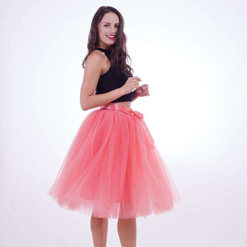 e44c2bb41 2019 Fashion 2018 Maxi Long Tutu Tulle Skirts Womens Pleated Skirt Fashion  Elastic Lolita Petticoat Faldas Mujer Saias From Yage_shop, $21.37 |  DHgate.Com