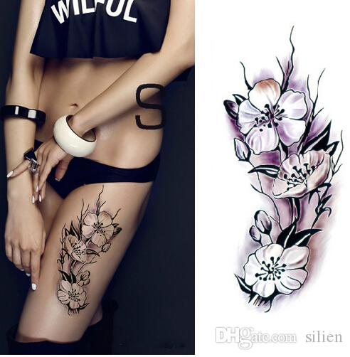 5af7930b17159 Waterproof Temporary Tattoos Stickers Sexy Romantic Dark Rose Flowers Henna  Fake Body Art Flash Tattoo Sleeve Make Your Own Tattoo Design Make Your  Tattoo ...