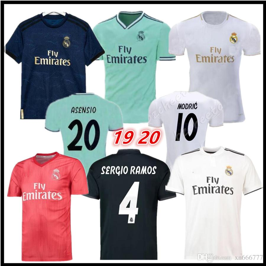 premium selection a302a dd6ee Real Madrid 2019 2020 RAMOS BENZEMA VINICIUS JR ASENSIO away soccer jersey  BALE ISCO Futbol Camisa 18 19 20 football shirt kit Maillot