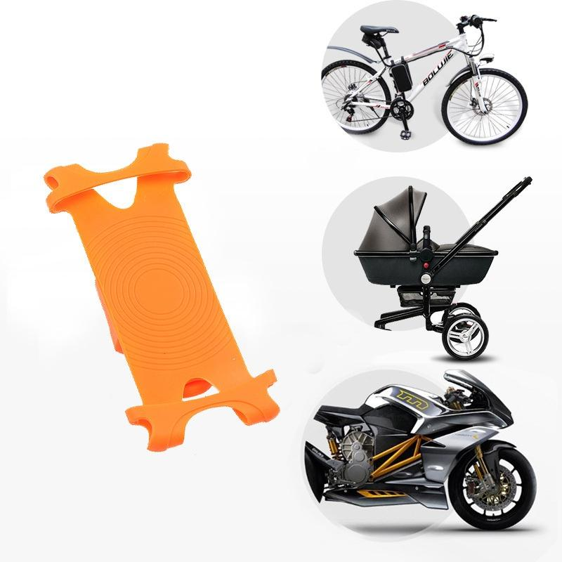 Universal Bike Silicone Bicycle Motorcycle Mobile Phone Holder Mount for cellphone GPS handlebar bracket stand car