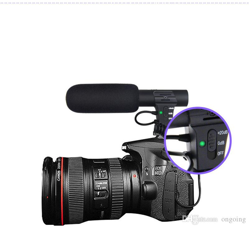 2019 New Hifi HD Sound 3.5mm Jack Microphone Hypercardioid Camera Video Outdoor PC Recording Mic Professional Interview Microphone MIC-05