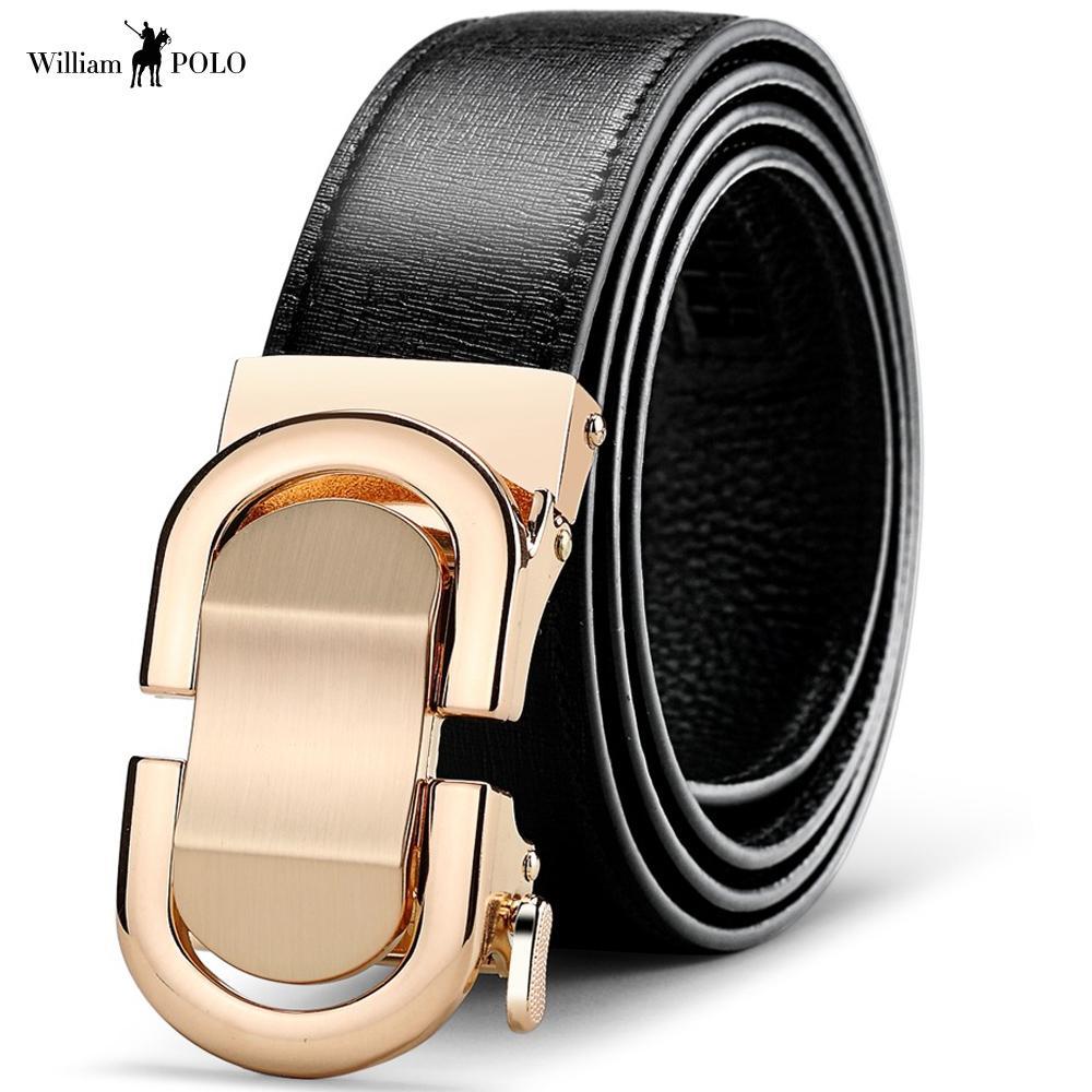 2018 Brand Luxury Designer Belts Men Cowskin Fashion Strap Genuine Leather  Belt Automatic Buckle Men s Belt Business Silver Belt Seat Belt Buckle From  ... a91b6ec20e4