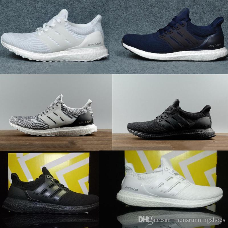 c0297ef1d0174 2019 2019 Ultra Boost 3.0 4.0 Triple Black And White Primeknit Oreo CNY  Blue Grey Men Women Running Shoes Ultra Boosts Ultraboost Sport Sneakers  From ...