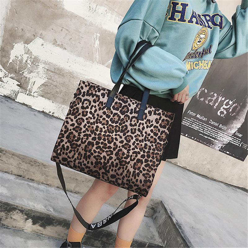 Leopard Print Handbag Big Elegant Shoulder Bag Tote Large Messenger Crossbody Handbags Hand Bags For Women Female Ladies Totes