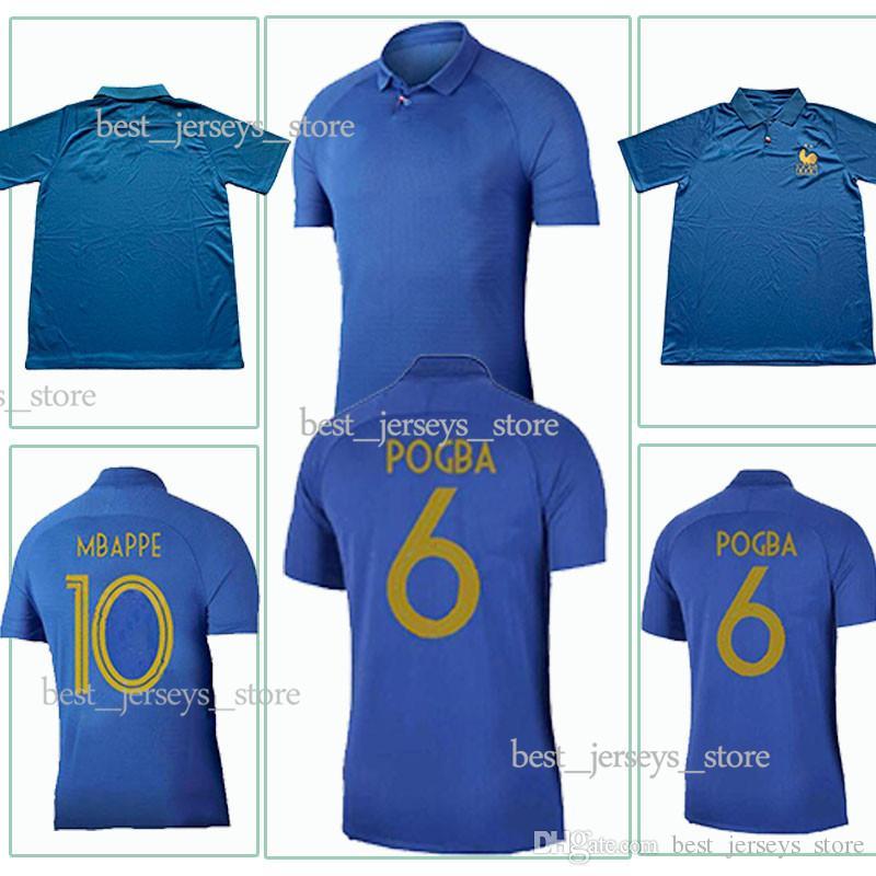a2815c4cb98 2019 Stars Thailand POGBA DEMBELE Soccer Jerseys GRIEZMANN MBAPPE 2018  World Cup Shirts MATUIDI KANTE Jerseys Club Team Football Uniform From ...