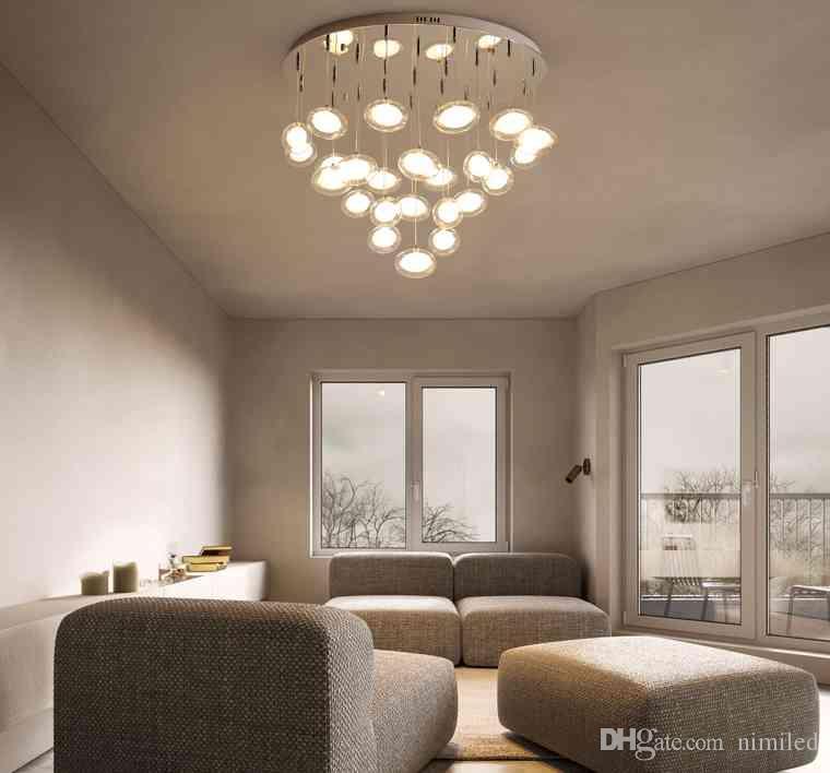 Modern simplicity LED chandelier ceiling Nordic glass ball hanging lights  bedroom lighting fixtures living room pendant lamps LLFA