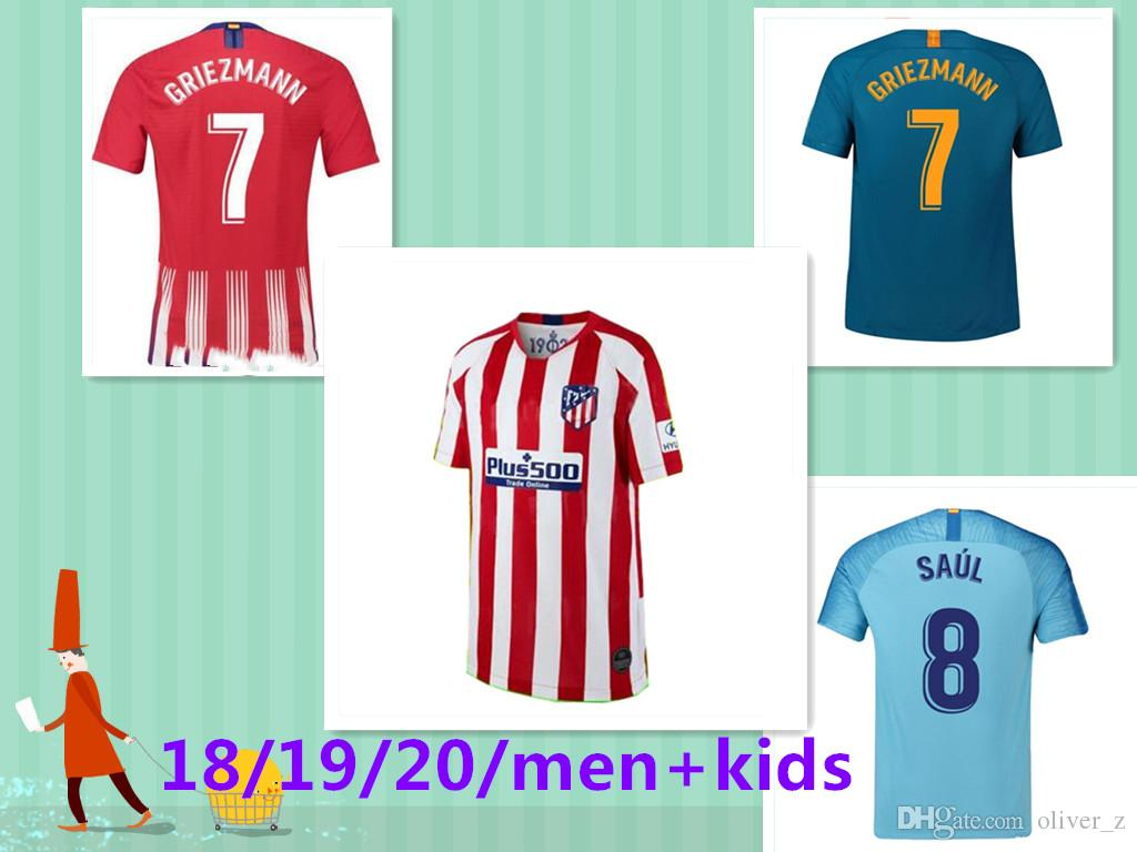 huge discount 70051 736cc 19 20 soccer jersey Atletico Madrid 2019 2020 GRIEZMANN KOKE GABI SAUL  DIEGO COSTA GODIN Adult men football shirt uniforms