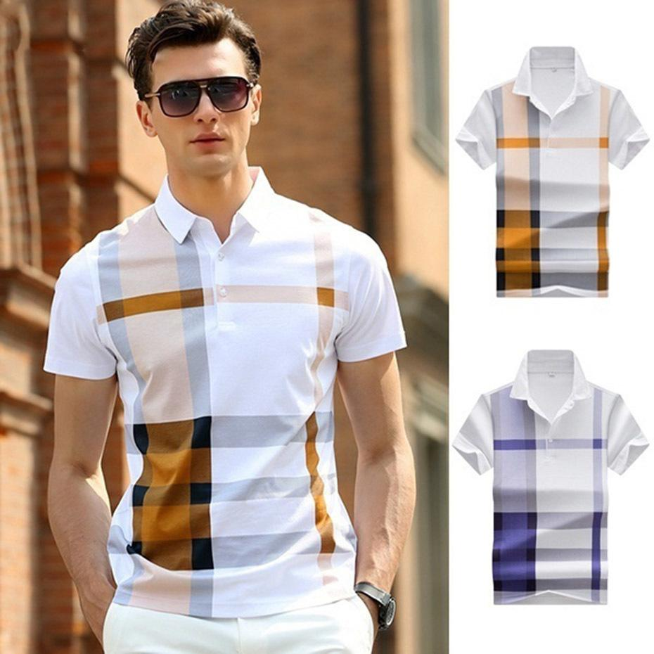 4defc103d2f 2019 Summer Business Casual Breathable Homme Camisa Plus Size XXXL Polo Shirt  Men High Quality Brand Clothing Short Sleeve Cotton C19011001 From  Shen8408