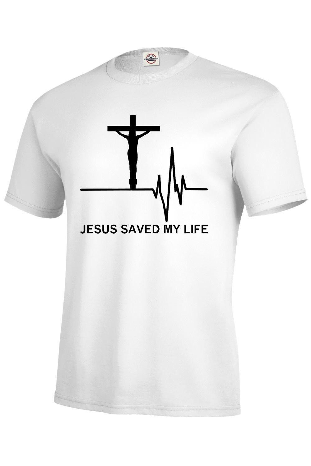1ac9346295 JESUS SAVED MY LIFE T SHIRT ASSORTED COLORS BEST SELLER S 5XL,KIDS XS2 4  XL18 20 Colour Jersey Print T Shirt As T Shirts Fun Tee Shirts From  Greycup, ...
