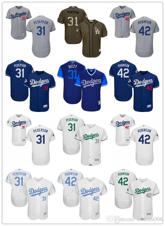 900545389ed 2019 Los Angeles #42 Jackie Robinson 31 Joc Pederson Men#WOMEN#YOUTH ...