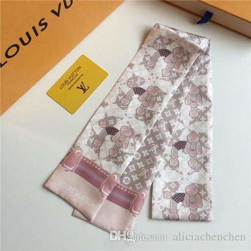 2019 New Fashion hair Scarf Women Bamboo Leaf Printed Neck Wraps New  Wholesale Bag Scarves