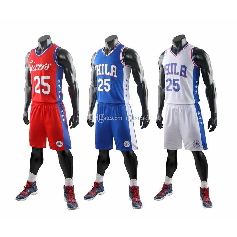 NEW Wholesale sale American basketball 25(SIMMONS) super basketball star custom basketball clothing outdoor sports clothing for big children