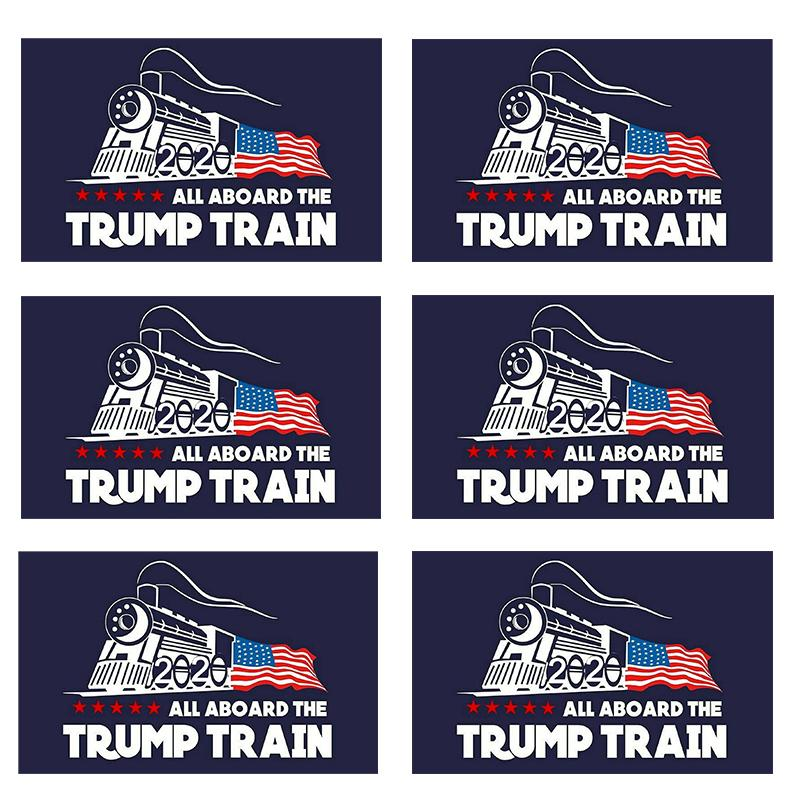Trump Train Flag 2020 Stickers Make America Great Again Trump Stickers American President Donald Trump Car Banner Sticker N98Z