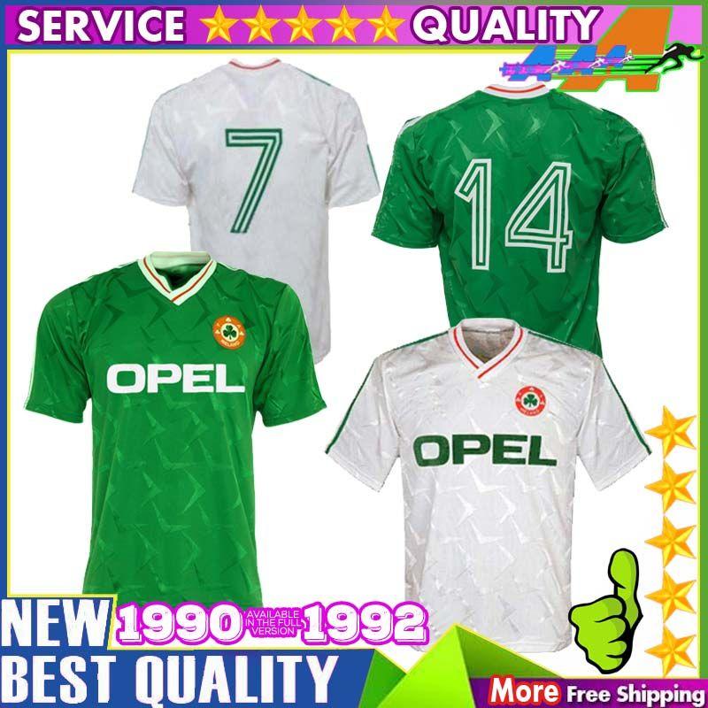 62bb61249 2019 1990 1992 Ireland Retro Soccer Jersey 1990 World Cup Ireland Home Classic  Jersey 90 92 Vintage Irish Sheedy Size S XXL Football Shirts From ...