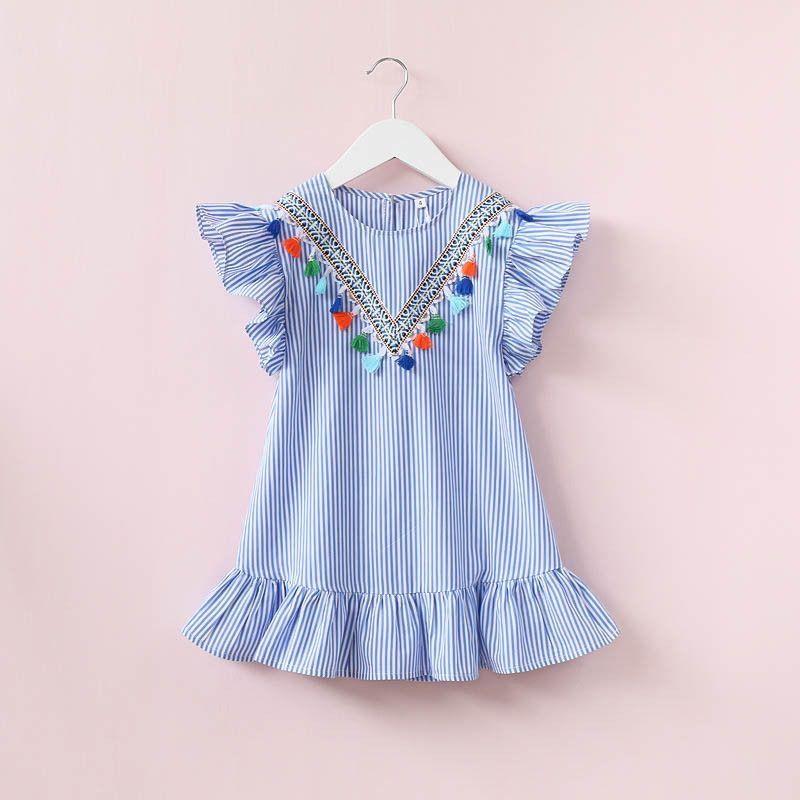 86fb4bab3e1d8 2 a 8 anos meninas tarja crianças bebê meninas vestidos de verão, roupas  infantis borlas bohemia partido tutu roupas de algodão, 2BC506ds-58, ...