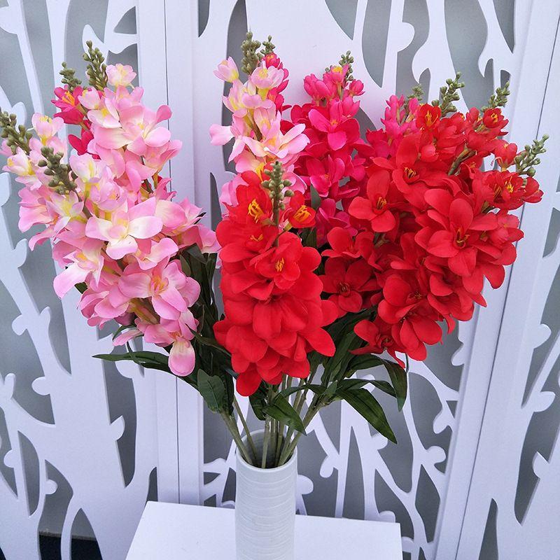 3pcs/lot Simulation Hyacinth flower artificial plants Delphinium decorative  plants Living room wedding decoration fake flower