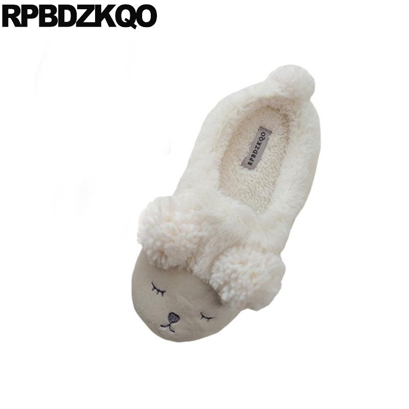 091e7aac3a5 House Indoor Women Floor Korean 43 Animal Winter Fur Slides Guest Fuzzy  Ladies Slipper Big Size Home Slip On Plus Shoes Bedroom Black Boots  Footwear From ...