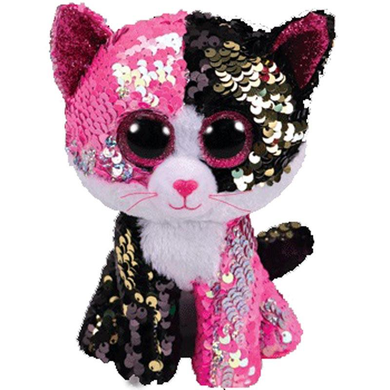 1c3bbdf3920 2019 Ty Beanie Boos MALIBU Pink Black Sequin Cat Reg Plush Animal Toys 15cm  From Ferdimand