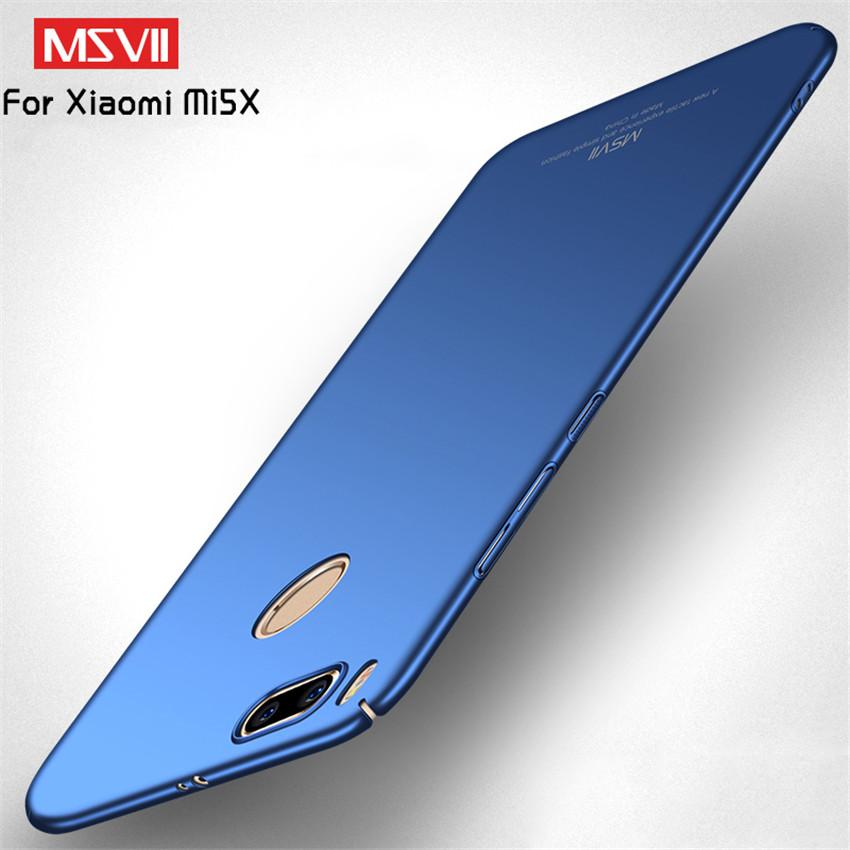 MSVII Phone Cases For Xiaomi Mi A1 5X Case Luxury Original Slim Full  Protection PC Hard Back Cover For Xiaomi Mi A1 5X MiA1 Mi5X