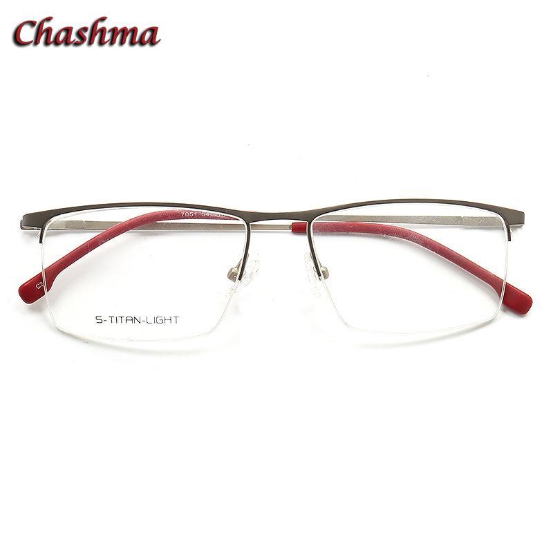 b0341a65a927 2019 Chashma Designer Eyewear Optical Prescription Frame For Men Half Frame  Black Light Eyeglass Hinge Quality Glasses Men From Huazu, $29.72 |  DHgate.Com