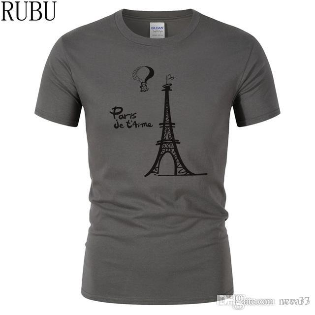 3fd5897aaa 2019 Mens Designer T Shirts Fashion Homme T Shirt Creative Design T Shirt  Short Sleeve Eiffel Tower Clothes Printed Cartoon Cotton Tee Shirt Coolest  Shirt ...