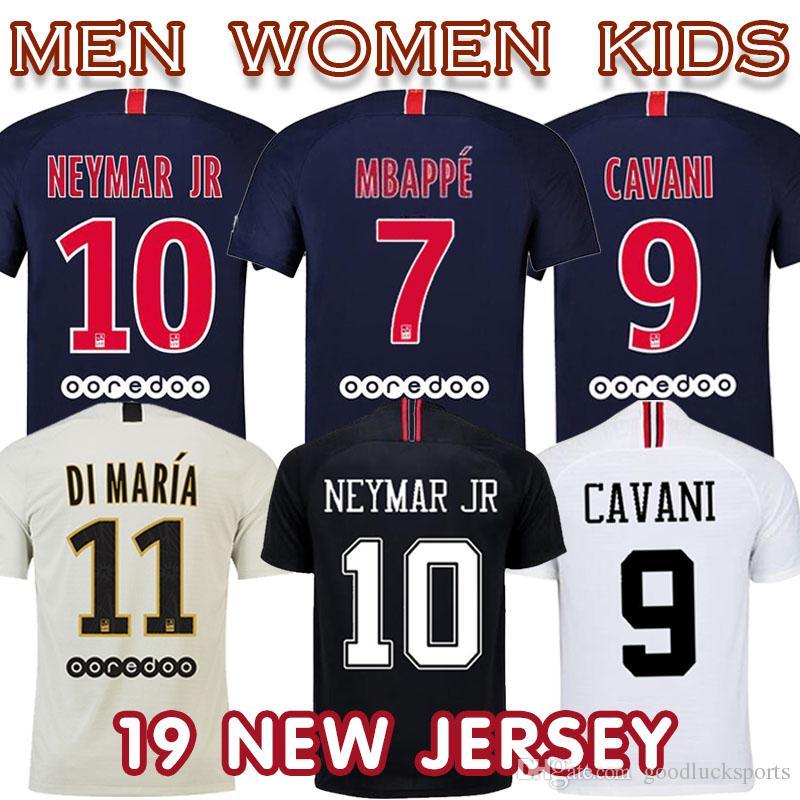 2bff35bba16 2019 2019 PSG Paris Maillot MBAPPE Soccer Jersey CAVANI VERRATTI Top  Thailand Men,Women Kids Home Away Third KIMPEMBE Camiseta De Futbol From  Goodlucksports ...