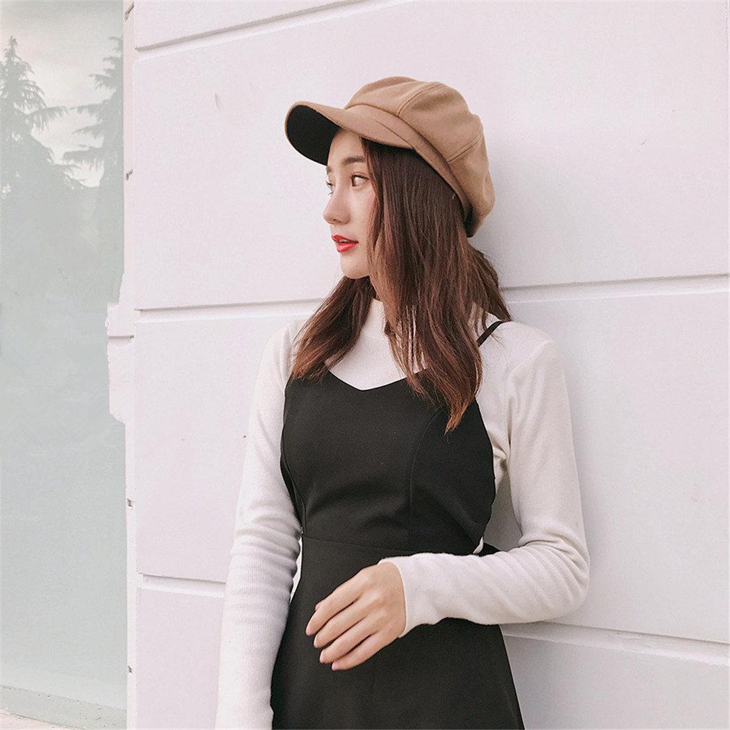 Compre Invierno Elegante Para Mujer Sombreros Beret 2019 Primavera Marca  Nueva Tapa Octagonal Para Las Mujeres De Lana Mezclas De Algodón Gorros  Boina Moda ... a2d6dda3d46d