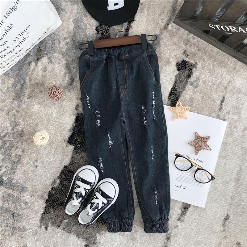 dde7f813b6571 2019 New Spring Item Girl Fashion Black Denim Pant Leggins Girls Children  Clothes Boys Blue Baby Kids Shorts Years Jean Jeans Pants White Jeans Girls  Black ...