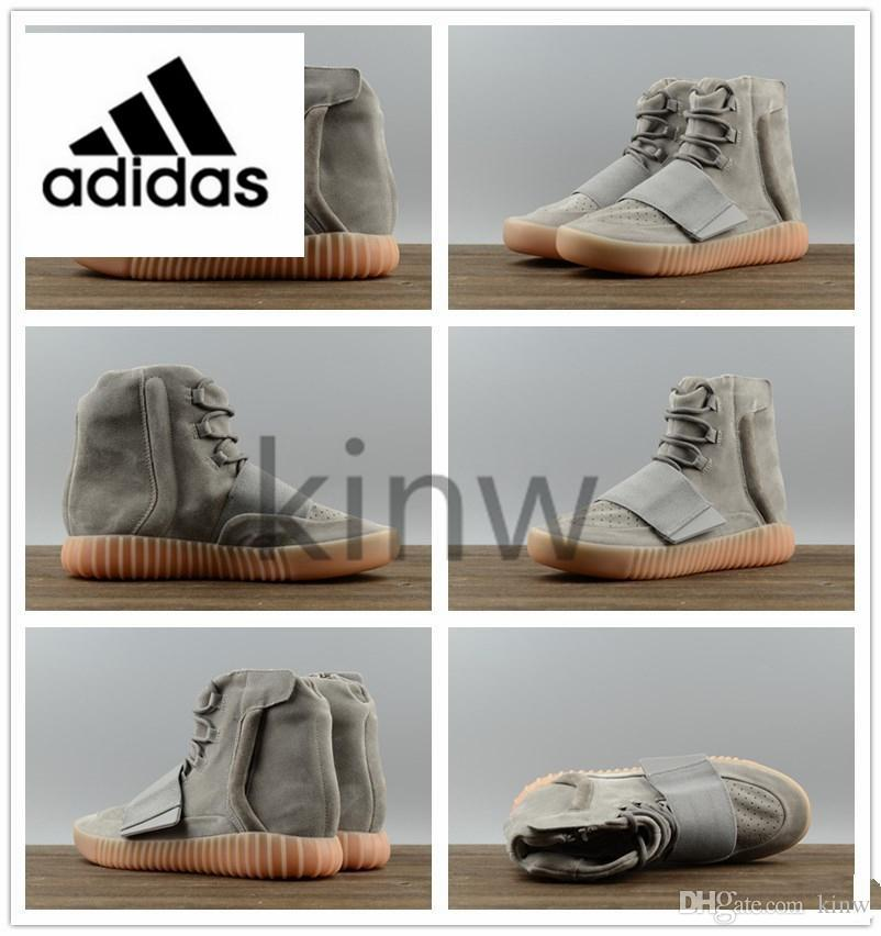 8ece2f2a026f Original Adidas Yeezy 750 Boost Kanye West Runner Running Shoes Grey Gum  Black Gray Light Brown Men Women Sneaker Trainers 452029166 Shoe Boots  Fashion ...