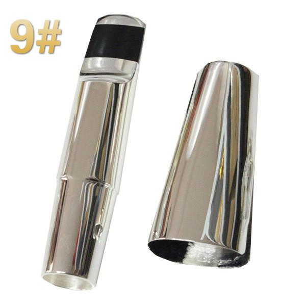 NAOMI Tenor Saxophone Mouthpiece Size 9 With Ligature And Cap Silver Plated Sax Mouthpiece Woodwind Parts