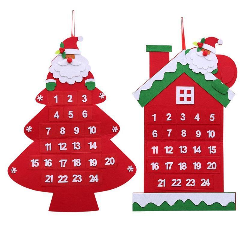 Natale Calendario.Natale Babbo Natale Calendario Appeso Decorazioni Per La Casa Prodotti Di Capodanno Decorazioni Per L Albero Di Natale Ornamenti Calendario Pendente