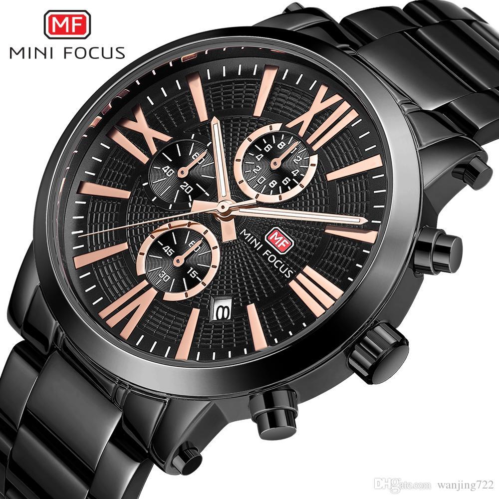 44b41fb99895 Compre MINI FOCUS Relojes De Moda Para Hombre Cinturón De Acero Inoxidable Reloj  Deportivo De Cuarzo Reloj De Acero Completo Para Empresas
