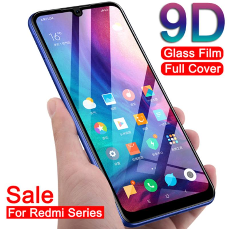 9D Protective Glass on the For Xiaomi Redmi 6A 6 Pro S2 Redmi 5 Plus 5A  Note 7 6 Pro Full Cover Screen Protector Tempered Glass