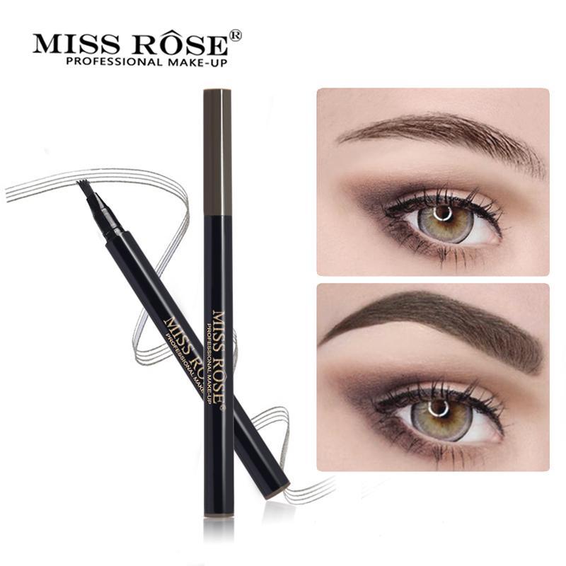 4 Fork Micro Carving Eyebrow Enhancer Liquid Eyebrow Pencil