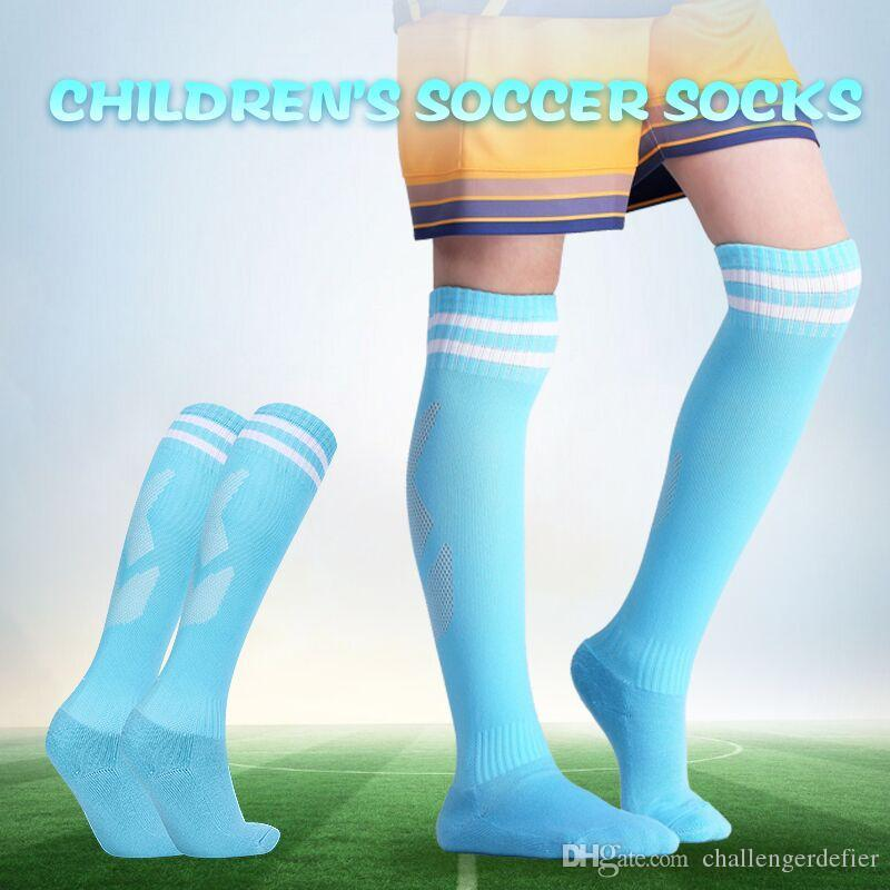 58110434e61 2019 Professional Kids Sports Soccer Socks Anti Slip Football Running Long  Stocking Over Knee High Quality Elastics Socks From Challengerdefier