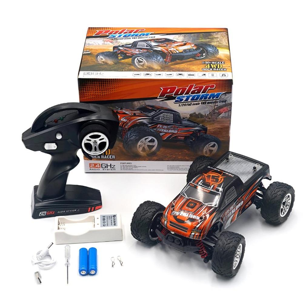 25Km / H 1:20 4Wd Big Wheels Rc Car Toy Fy-15 Versión actualizada 2.4G Radio Control rc Cars Buggy High-Speed ​​Off-Road Toy para niños regalo