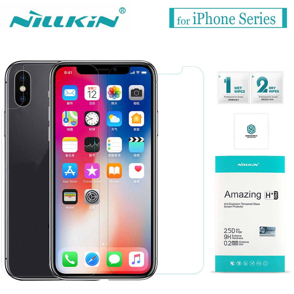 more photos 8585b 61205 for iPhone X XS Max XR 8 7 6s 6 Tempered Glass Nillkin 9H Hard Clear Glass  Screen Protector Film for Apple iPhone 8 7 6S 6 Plus