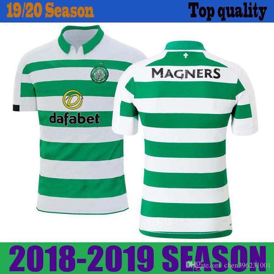 official photos a3aaa c1e6f 19 20 Celtic Soccer Jerseys SINCLAIR 2019 New Mens Home Shirt EDOUARD  Football Shirt FORREST Soccer Shirt Celtic CHRISTIE Football Jersey