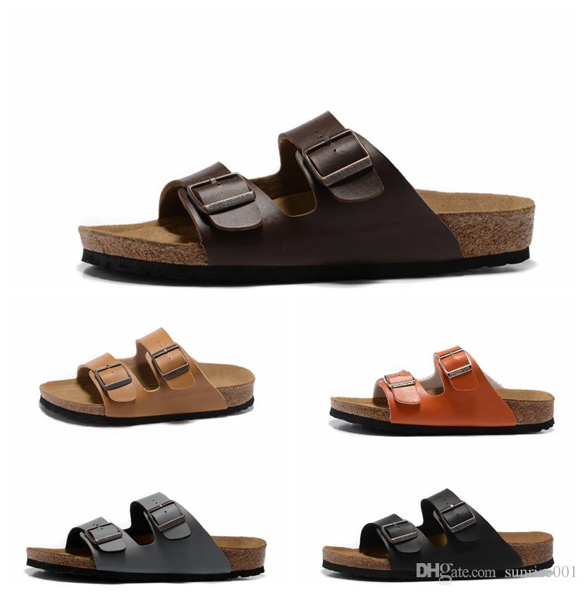 Cuir Hommes Supérieur 2019 Designer Hip Semelle Hop Bois Doux Casual New Shoes Femmes Sandals En Supérieure Street Pantoufles 45AR3Lj