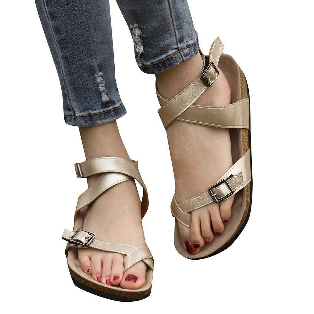 8a0bd52120ff YOUYEDIAN кожаные сандалии женские балетки Открытые носки Дышащие пляжные  сандалии ...