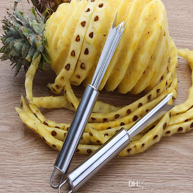 Creative Stainless Steel Pineapple Peeler Easy Pineapple Knife Cutter Corer Slicer Pineapple Seed Remover Clip Fruit Salad Tool