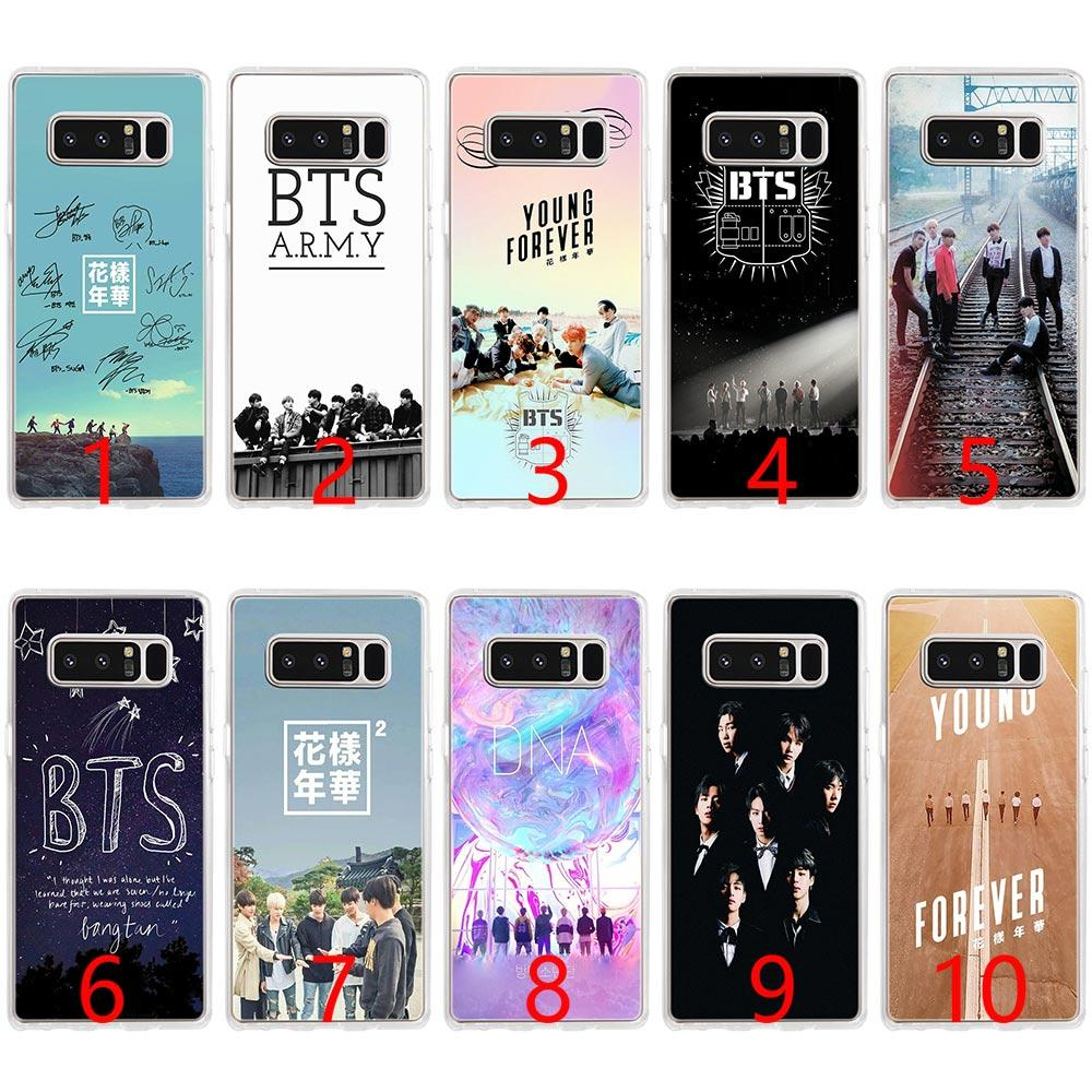 sale retailer b3fa4 94565 BTS Bangtan Boys Music logo Soft Silicone Phone Case for Samsung Note 9 8  S7 Edge S8 S9 Plus Cover