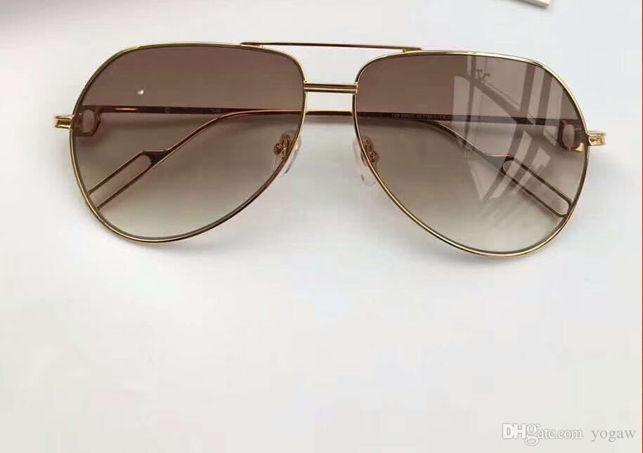 73e2311725d Men 0110 Gold Grey Shaded Sunglasses Pilot Sonnenbrille Sun Glasses ...