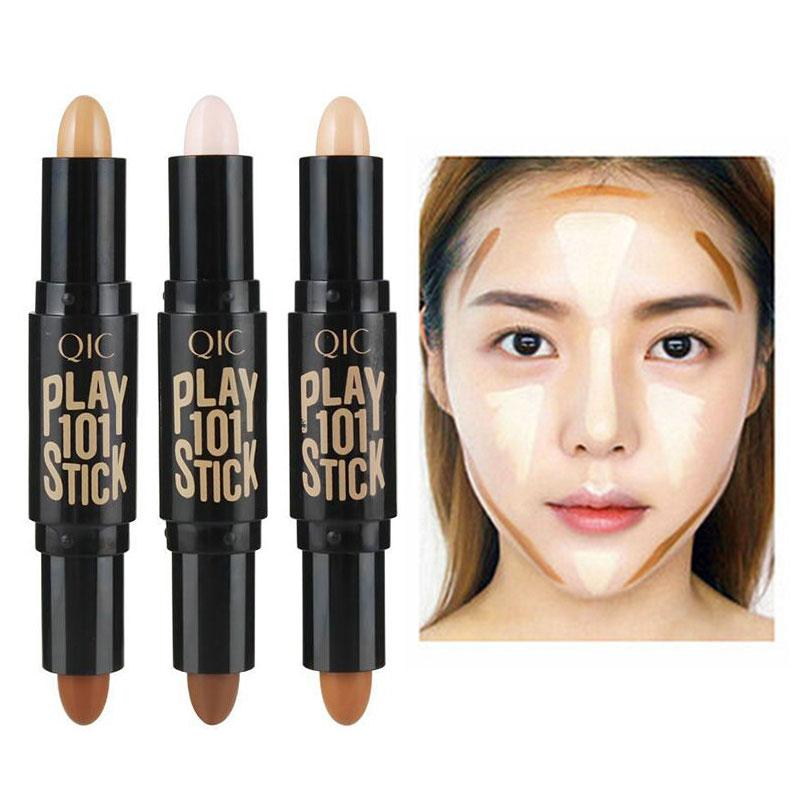 Concealer Back To Search Resultsbeauty & Health High Quality Women Double-ended 3d Face Makeup Highlight Shadow Stick Contour Pencil Concealer Pen Cream Texture