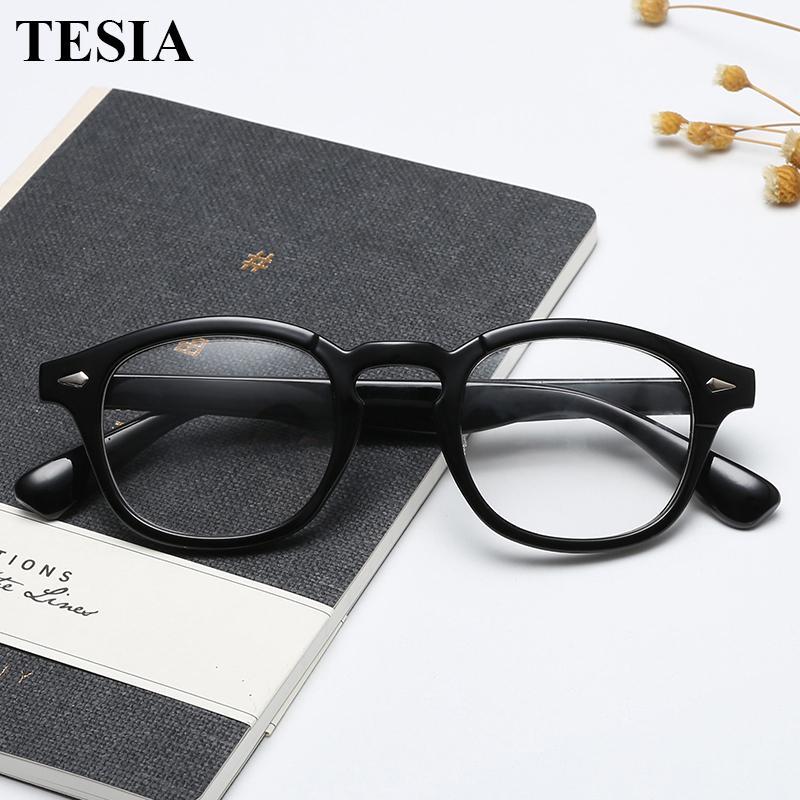 6ff9c260a6 2019 2019 Trending Johnny Depp Style Glasses Men Women Vintage Optical  Myopia Frames Eyeglasses Prescription Spectacle Clear Lens From Heheda1