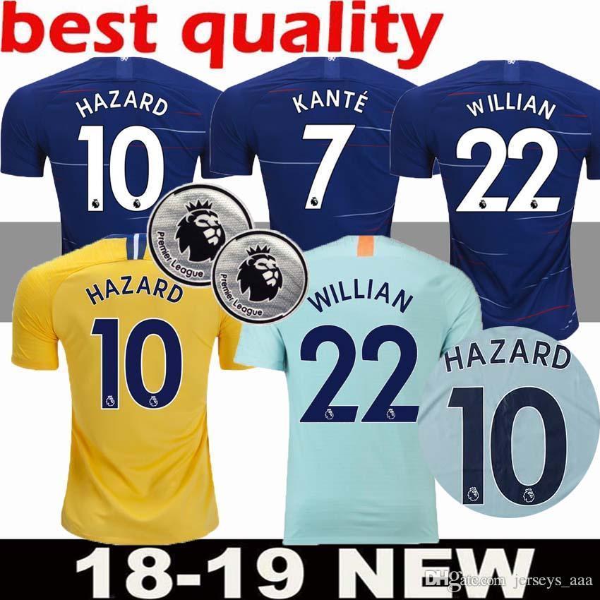Camisetas De Fútbol Del Chelsea 2019 De Calidad Superior Hazard Giroud  Morata Kante David Luiz Fabregas Camiseta De Fútbol Camisetas Uniformes  Envío Gratis ... 715d48d5fb752
