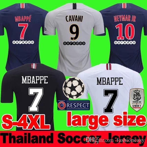 fb1294c0d3 MAILLOT PSG AIR JORDAN Tailândia de futebol 2018 2019 PARIS SAINT GERMAIN  Maillot de pé NEYMAR JR MBAPPE CAVANI BUFFON Jersey 18 19 kits de camisa de  ...