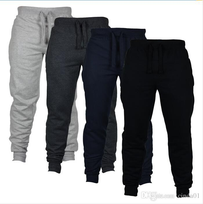 Men Harem Pants Fashion Cool Man Clothing Jogger Pants Sportswear Trousers Clothes for Male Elastic Waist Solid Color Free Shipping